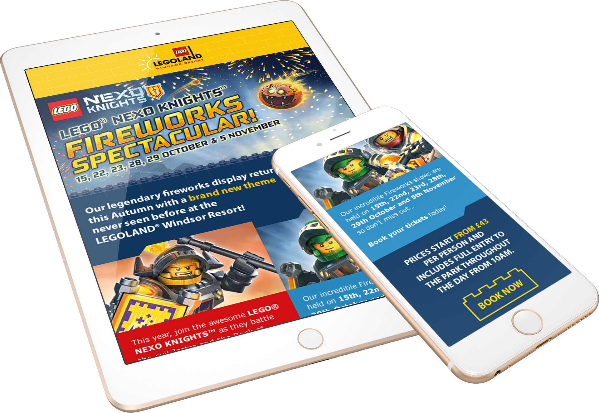 Legoland Nexo Knights Email Campaign Screens