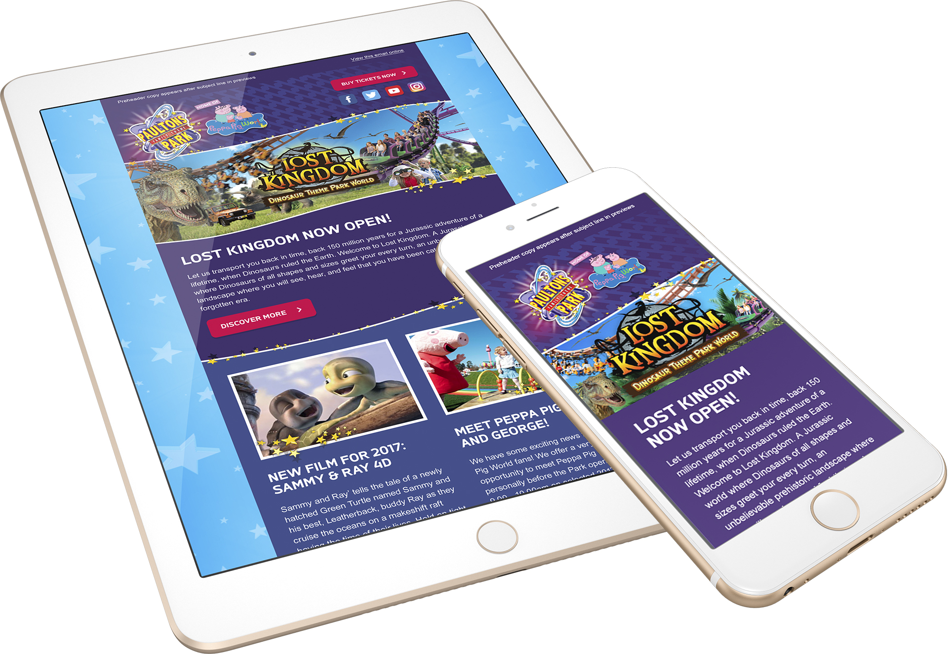 Email template design for paultons park and peppa pig world by all paultons park responsive email templates pronofoot35fo Gallery