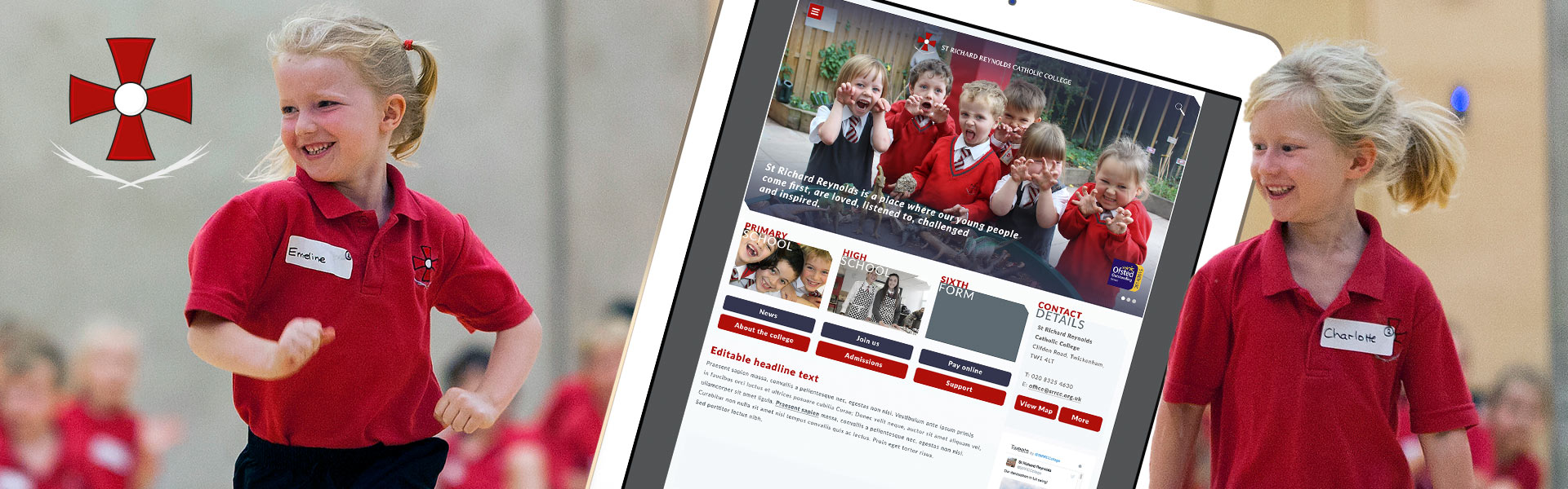 St Richard Reynolds Catholic School Website Design